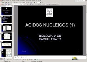 PRIMERA PRESENTACIÓN ÁCIDOS NUCLEICOS