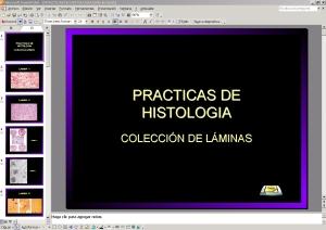PRESENTACIÓN CON DIAPOSITIVAS DE HISTOLOGÍA