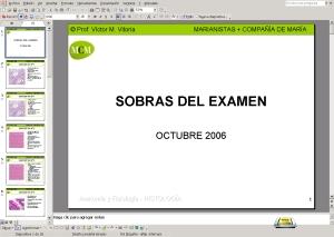LÁMINAS SOBRANTES DE LA PREPARACIÓN DEL EXAMEN DE OCTUBRE DEL 2006