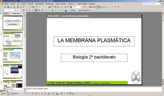 PRESENTACIÓN SOBRE CARACTERÍSTICAS GENERALES DE MEMBRANA PLASMÁTICA