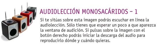 AUDIOLECCIÓN MONOSACÁRIDOS