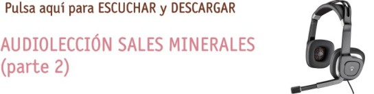 AUDIOLECCION SALES MINERALES 2